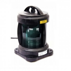 Navigation light single - Starboard Green + certificate without lamp