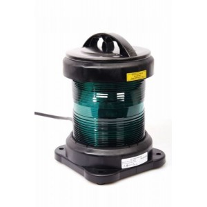 Navigation light single - Fishing Green + certificate without lamp