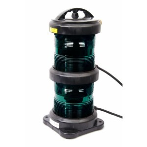 Navigation light double - Fishing Green + certificate without lamp
